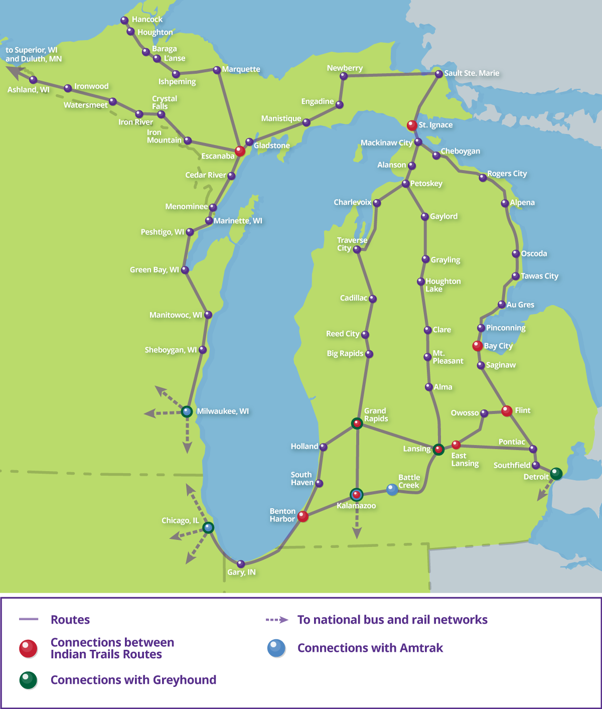 Bus Routes | Indian Trails, Michigan